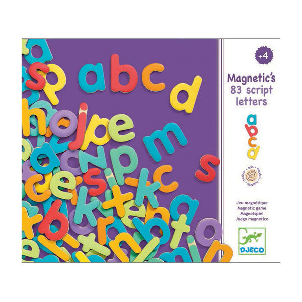Small Wooden Magnetic Letters by Djeco