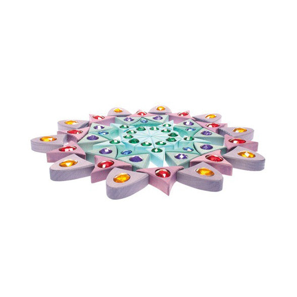 Large Sparkling Mandala Wooden Puzzle by Grimm's