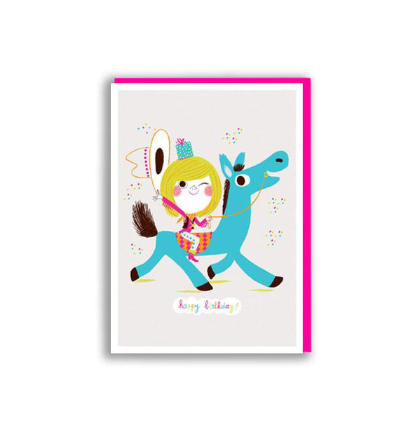 Happy Birthday Horse Card by Marc Boutavant