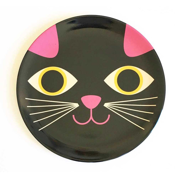 Cat Face Melamine Plate Designed by Ingela P Arrhenius Omm Design