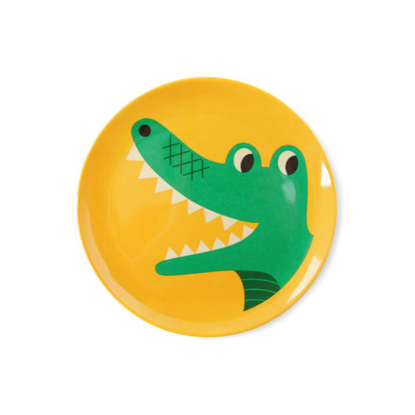Crocodile Melamine Plate Designed by Ingela P Arrhenius Omm Design