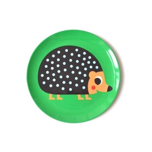 Hedgehog Melamine Plate Designed by Ingela P Arrhenius Omm Design