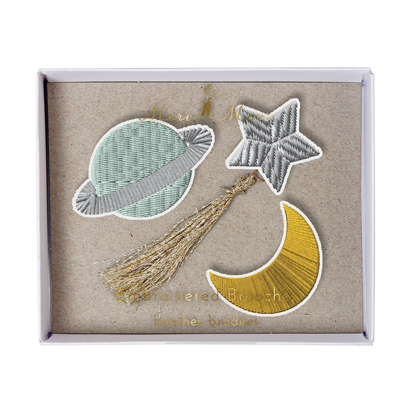 Planet Brooches - Meri Meri