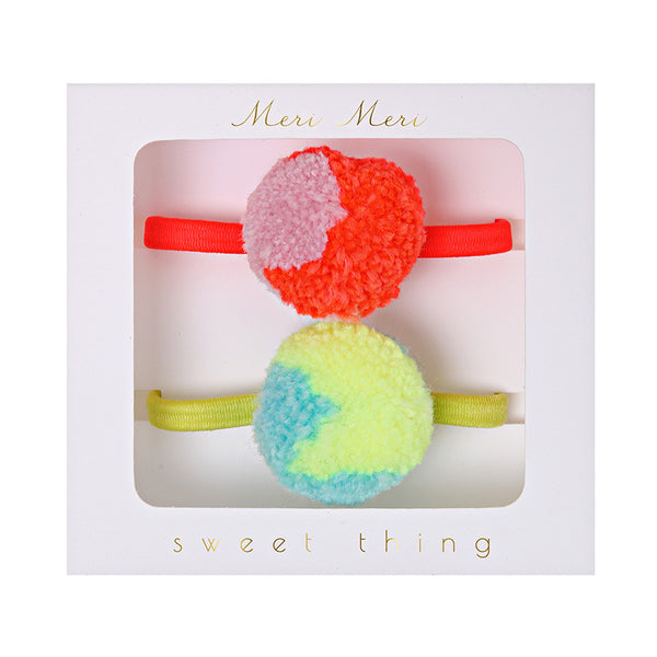 Pom Pom Hair Ties by Meri Meri