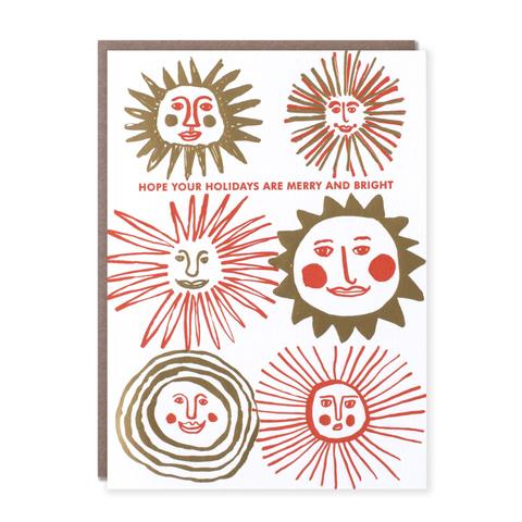 'Hope Your Holidays are Merry and Bright' Card from Egg Press