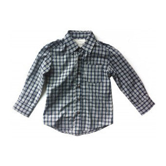 Milo Shirt - Black & Blue Plaid