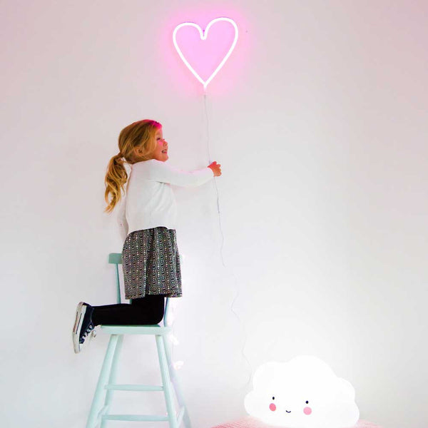 Neon Pink Heart Wall Hanging by A Little Lovely Company