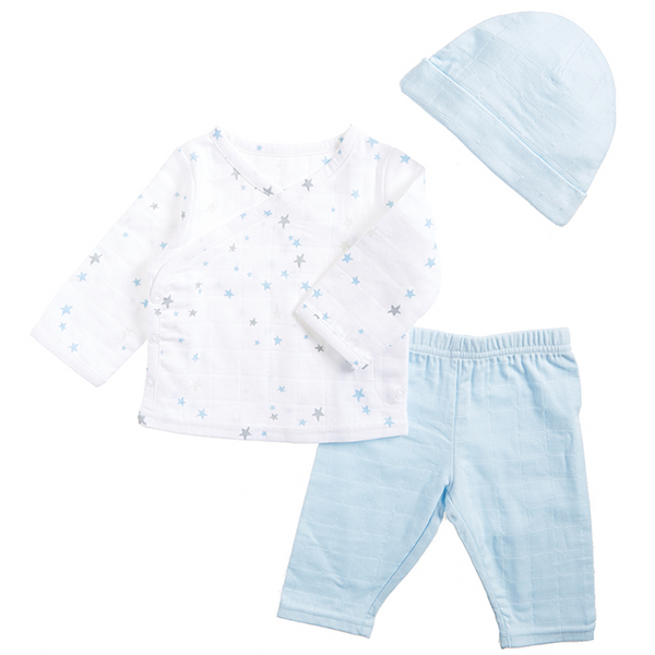 Muslin Night Sky Starburst Newborn Hat, Vest and Trousers by Aden and Anais