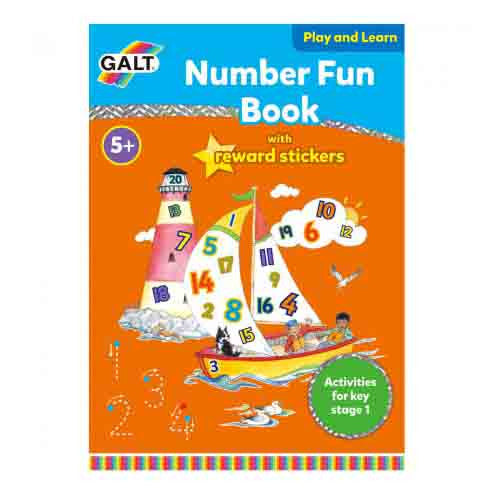 Number Fun Learning Book with Reward Stickers by Galt - Little Citizens Boutique  - 1