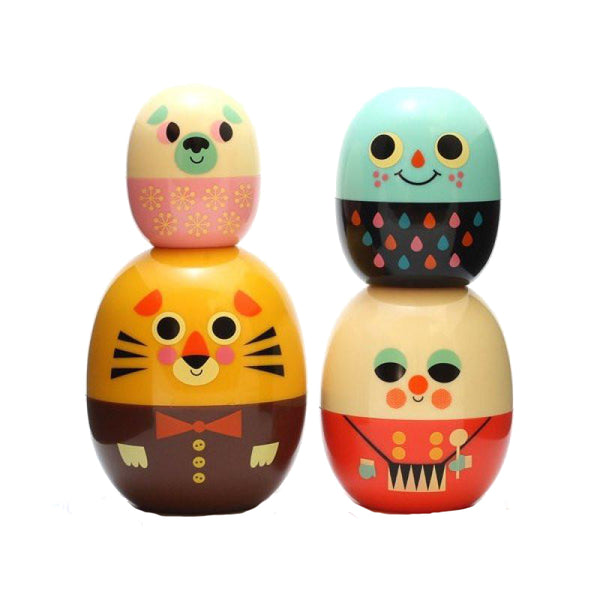 Babyoshka Lion Baby Matryoshka Russian Doll Set by Omm Design