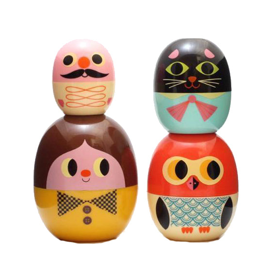 Babyoshka Person -Baby Matryoshka Russian Doll Set by Omm Design