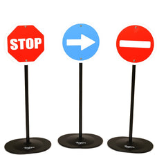 Set of 3 metal traffic signs by Baghera