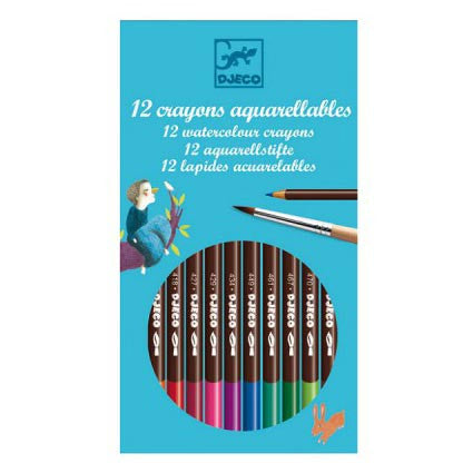 Coloured Pencils & Watercolours - Set of 12 by Djeco