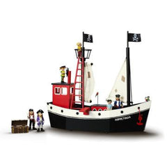 Pippi Longstocking Pirate Ship - Hoppetossa with Figurines Included - Little Citizens Boutique  - 3