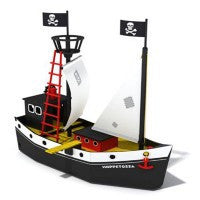 Pippi Longstocking Pirate Ship - Hoppetossa with Figurines Included - Little Citizens Boutique  - 2