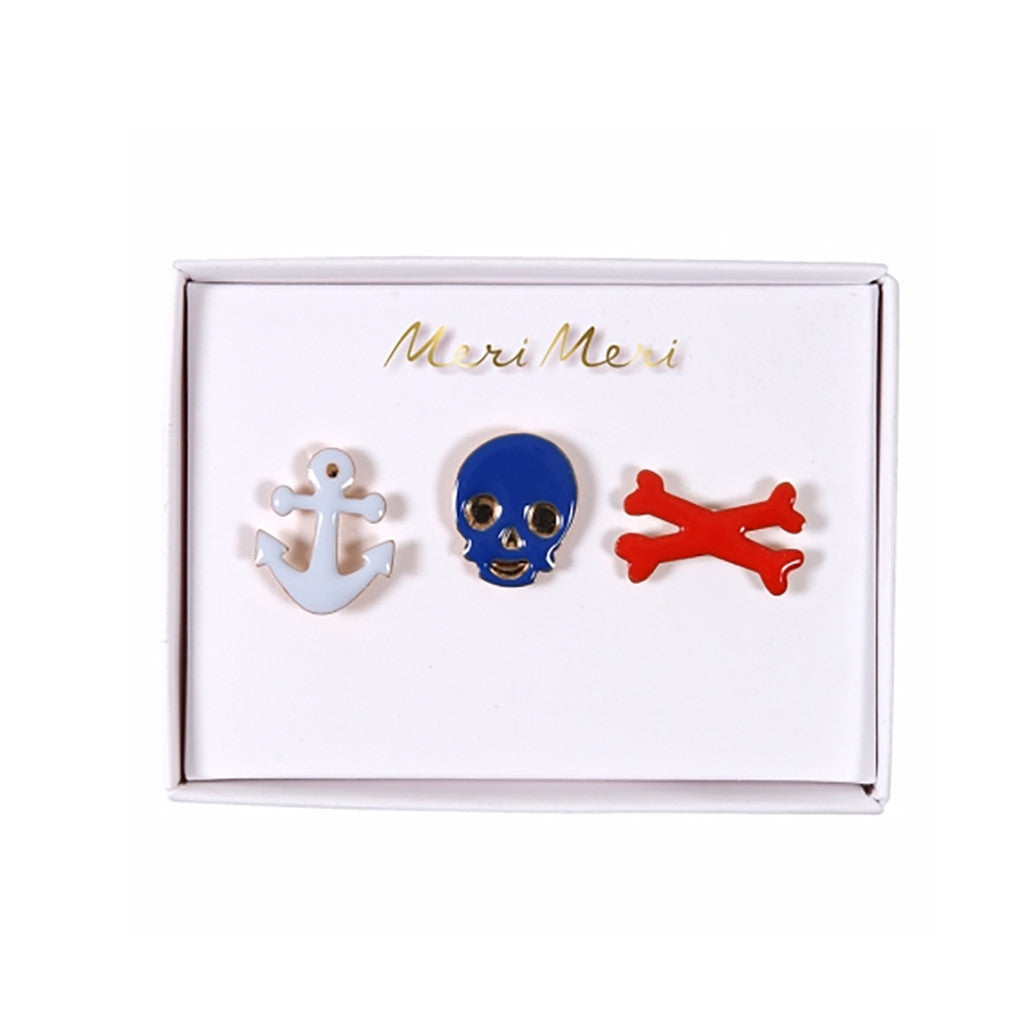 Pirate Enamel Pins by Meri Meri