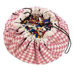 Toy Storage Bag & Mat - in Pink and White by Play & Go - Little Citizens Boutique  - 1