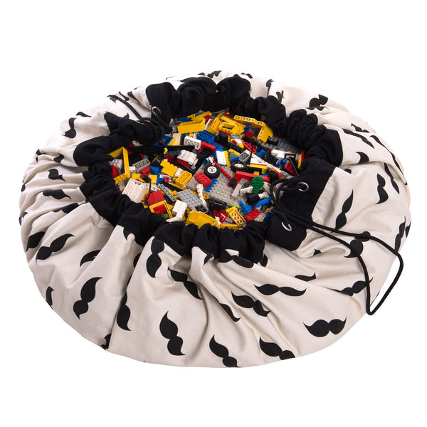 Toy Storage Bag & Mat - Mr Moustache by Play & Go