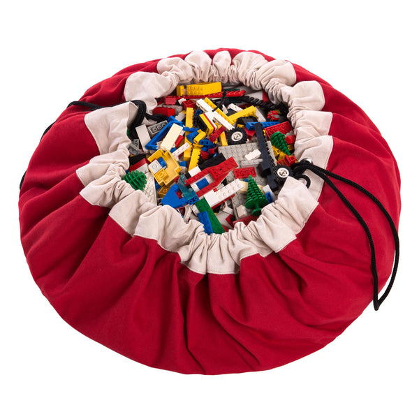 Toy Storage Bag & Mat - in Red by Play & Go