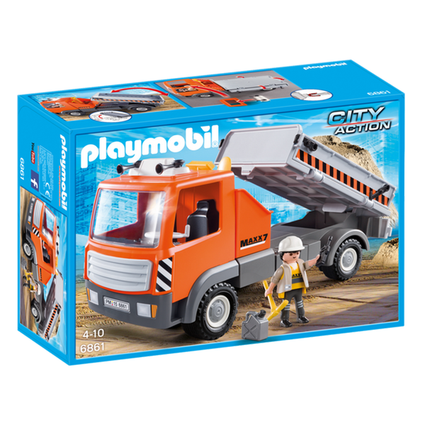 Playmobil Flatbed Workman's Truck