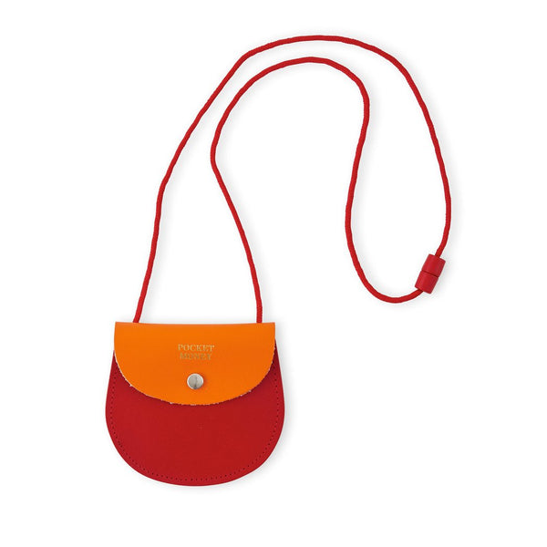 Orange and Red Leather Pocket Money Purse from ARK