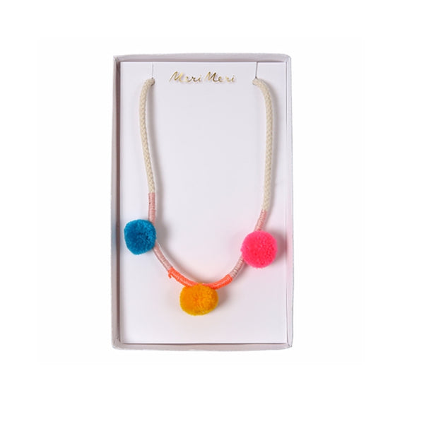Pom Pom Necklace by Meri Meri