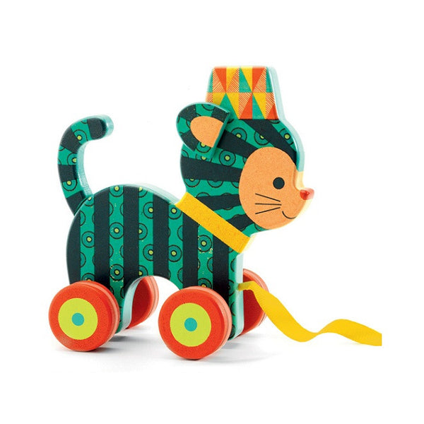 Pull Along Toy - Neko the Cat