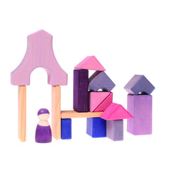 Purple and Lilac Framehouse Building Blocks by Grimm's