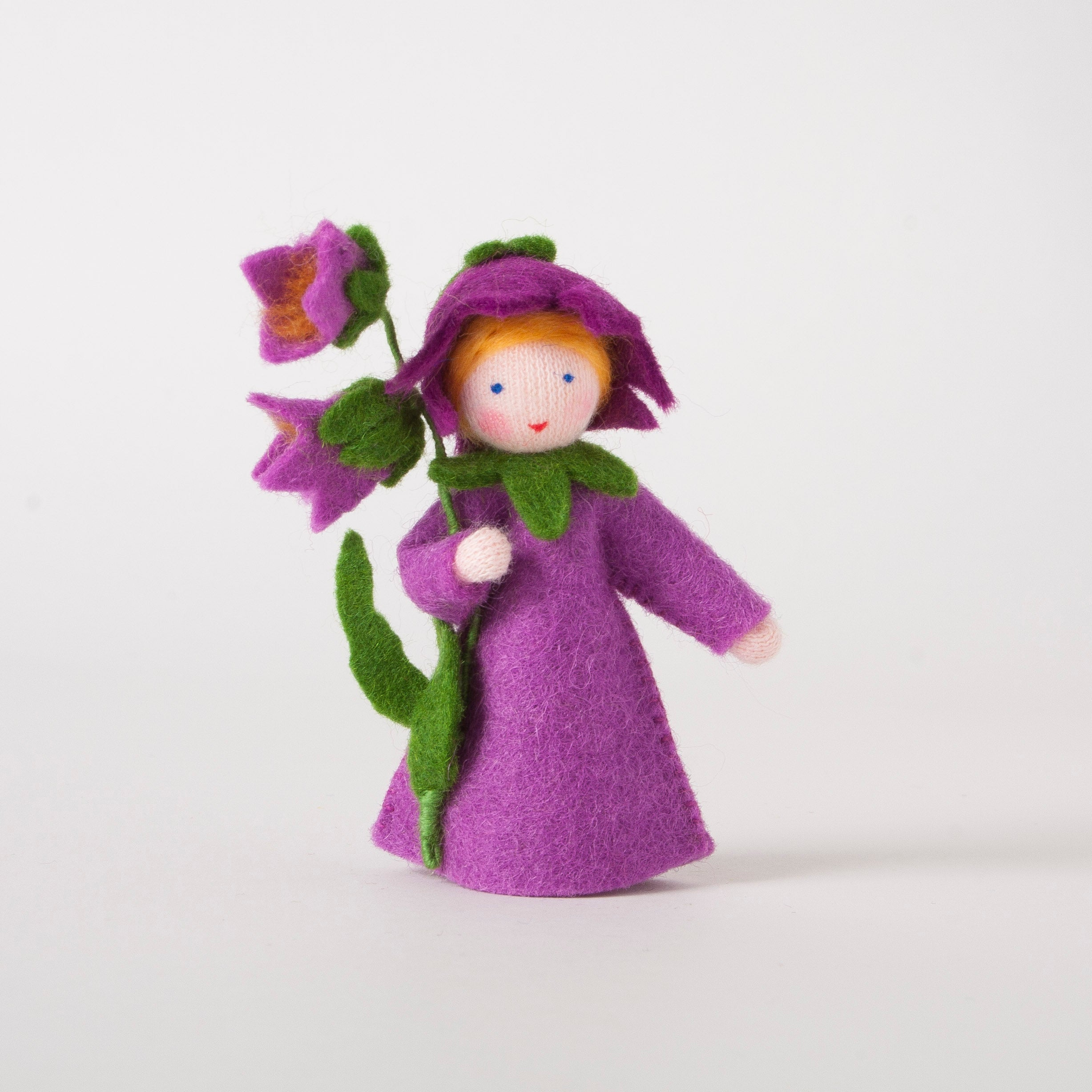 Purple FLower Felt Dolly from Ambrosius
