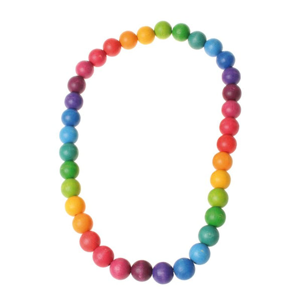 Rainbow Teething Necklace by Grimm's