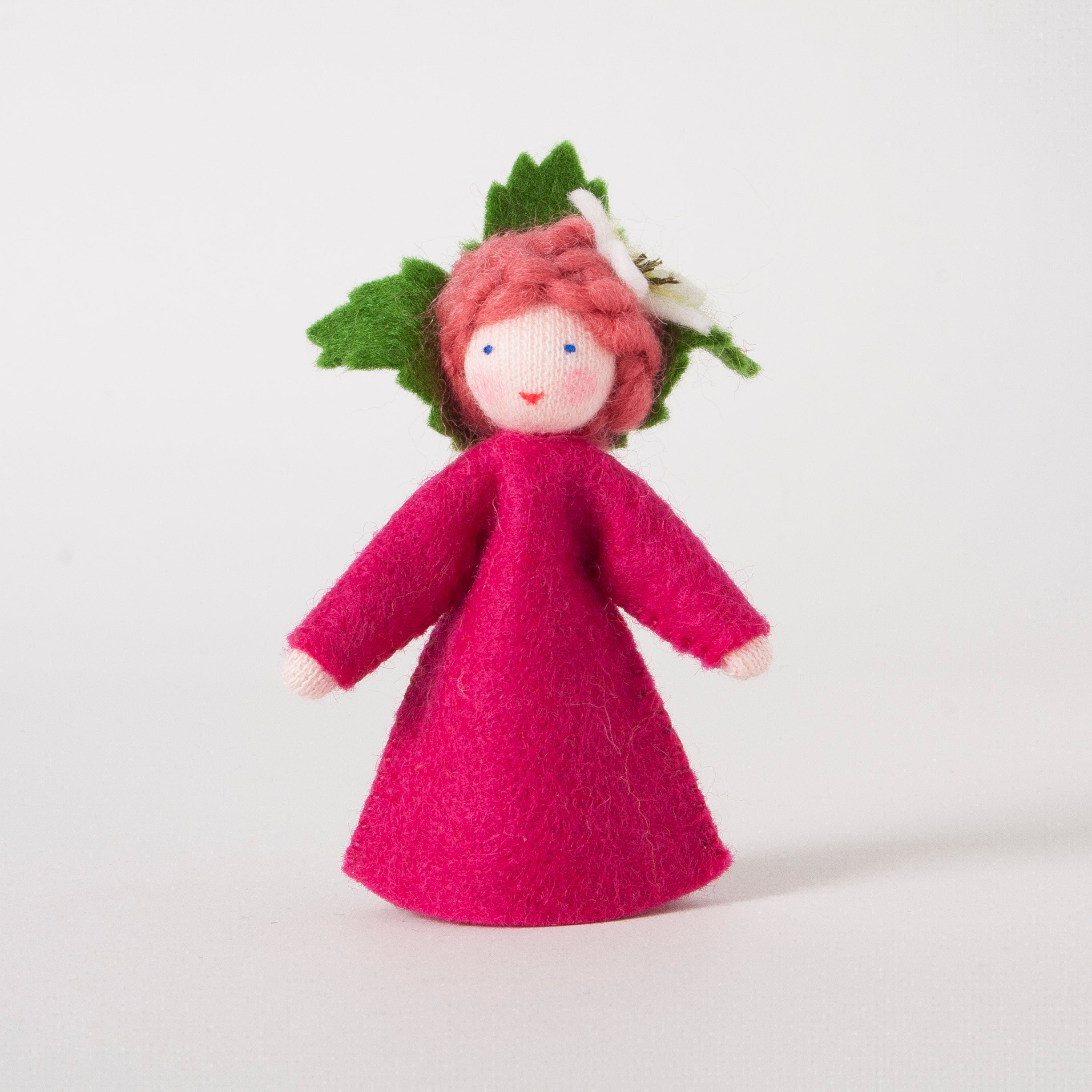 Raspberry Girl Felt Doll by Ambrosius
