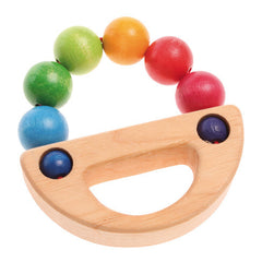 Grasping Toy Rainbow Boat Rattle - Grimm's - Little Citizens Boutique