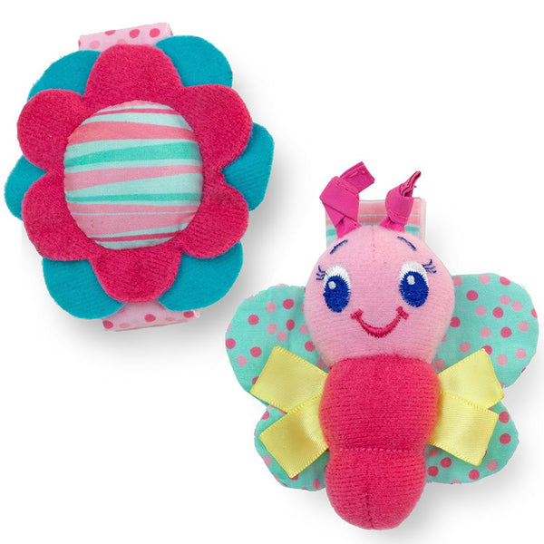 Butterfly and Flower Rattle Me Wrist Pals by Bright Starts