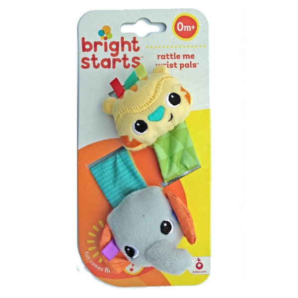 Elephant and Giraffe Rattle Me Wrist Pals by Bright Starts
