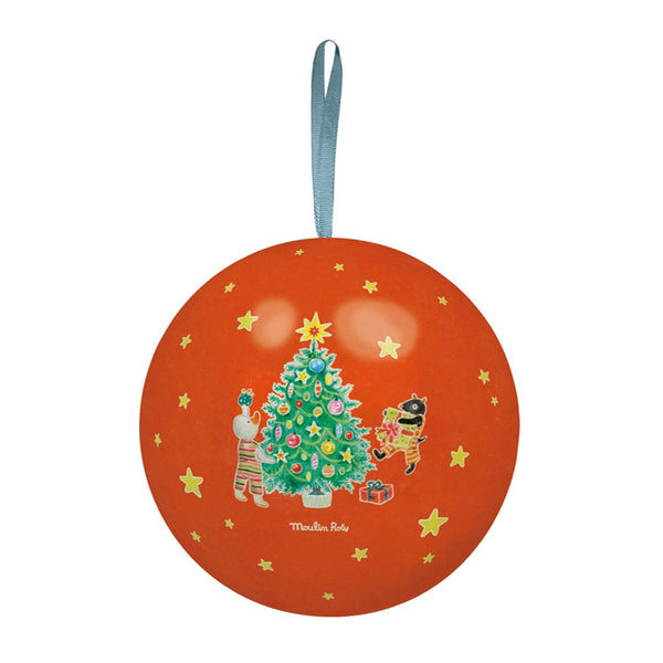 Red Christmas Tin Bauble by Moulin Roty