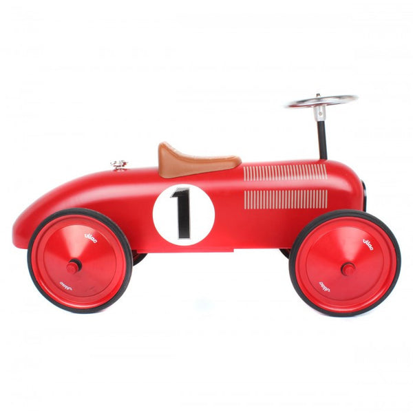 Classic Ride-On Racing Car - Red