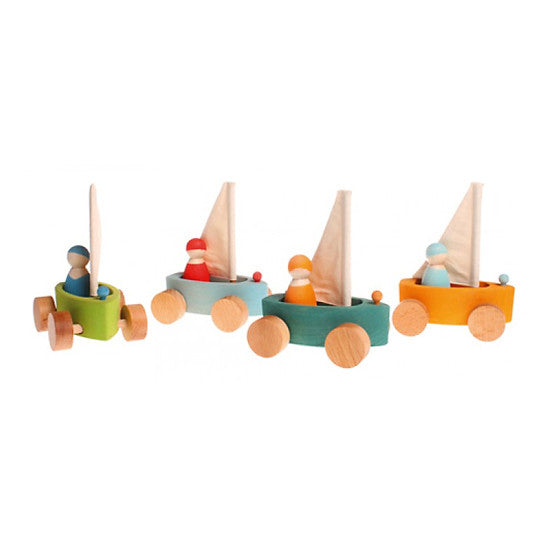 Little Land Yachts Set of Four Boats - Grimm's