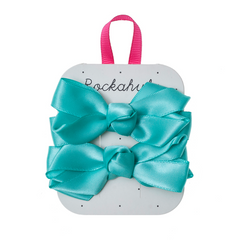 Satin Ruffle Bow Clips by Rockahula