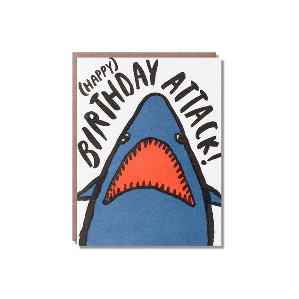 Happy Birthday Shark Attack Card from Egg Press