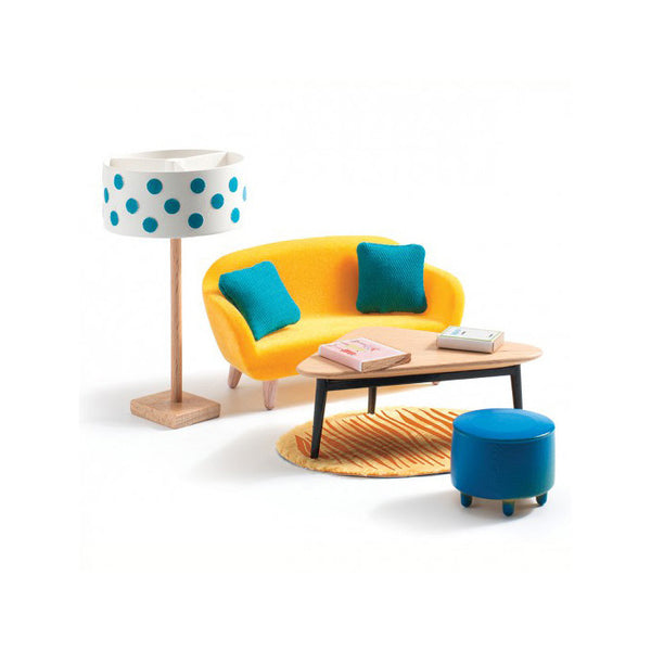 The Cubic Living Room Dollhouse Furniture Toys -Petit Home by Djeco