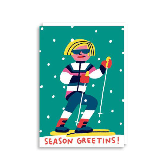 'Ski' Christmas Card from Cachetejack Cards