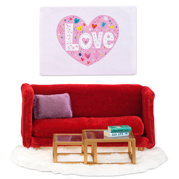 Red Living Room Furniture Set by Smaland