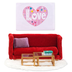 Red Living Room Furniture Set by Smaland - Little Citizens Boutique  - 1
