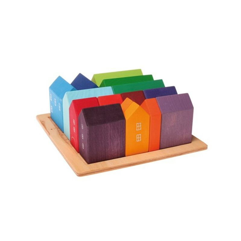 Small Wooden Houses Landscape Toy by Grimm