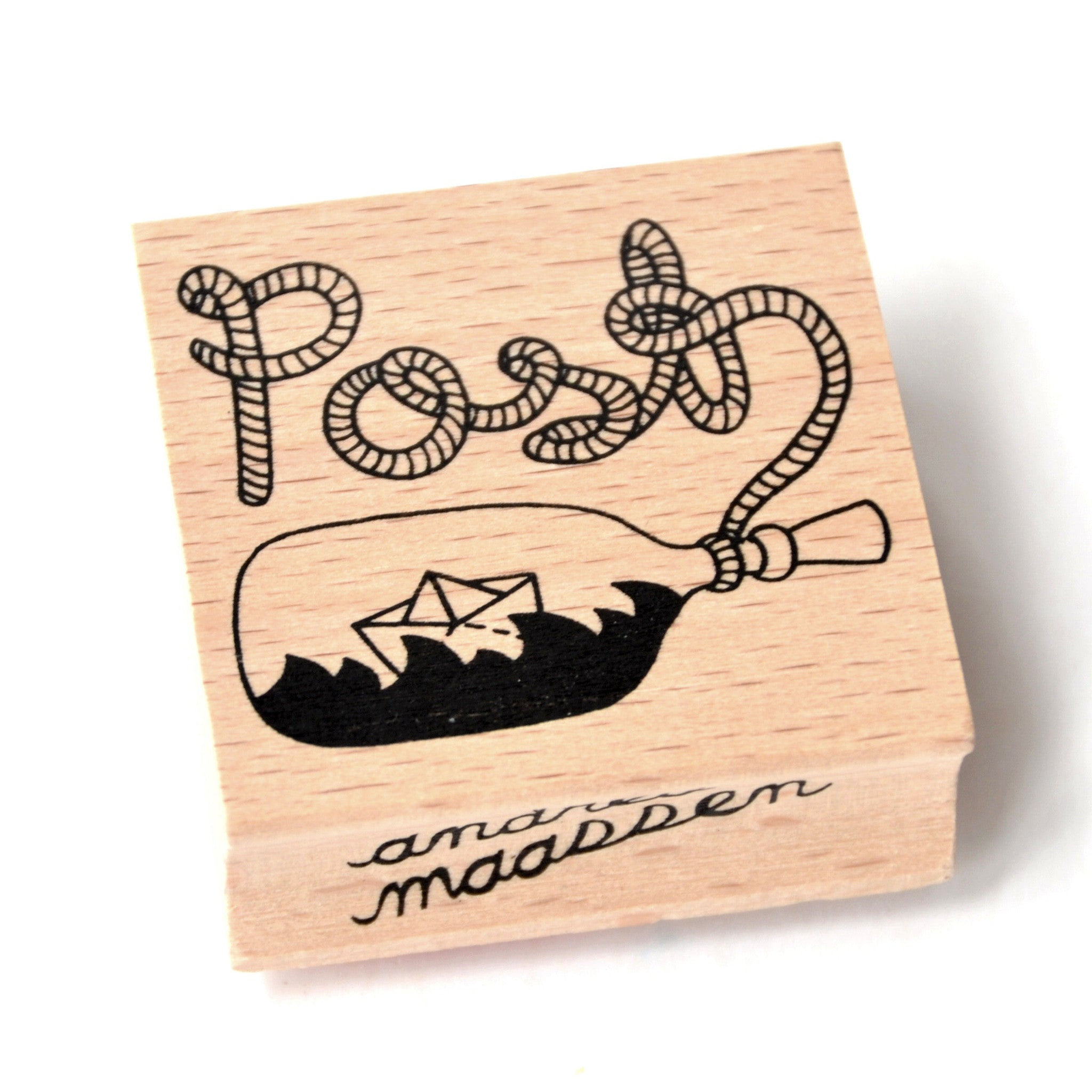Rubber Ink Stamp - Post - Little Citizens Boutique