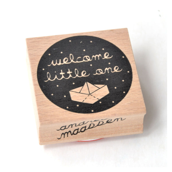 Rubber Ink Stamp - Welcome Little One