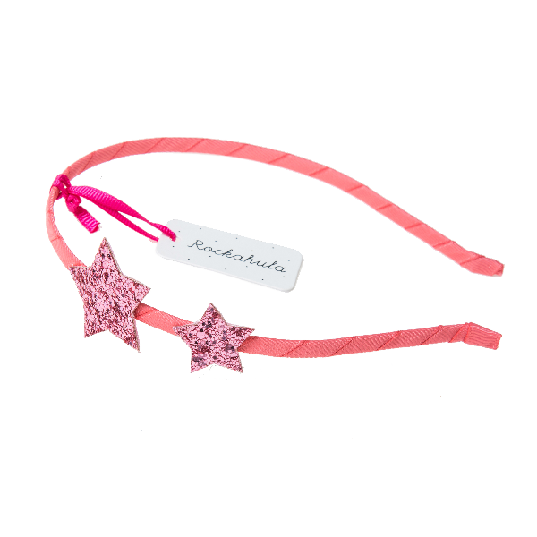 Star Glitter Alice Band in Pink by Rockahula