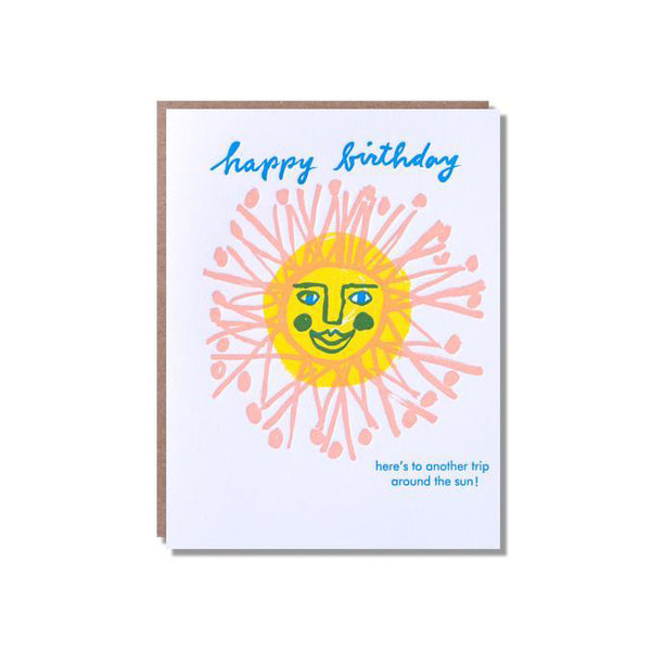 Happy Birthday Sun Face Card from Egg Press