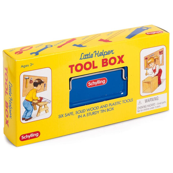 Tin Tool Box with Tools