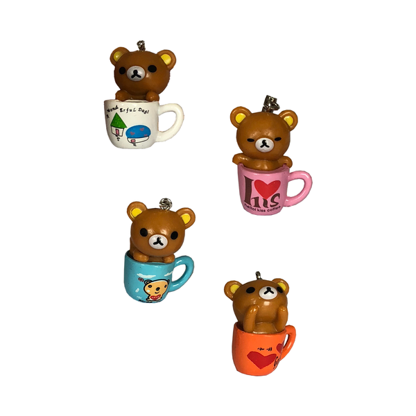 Tiny Teacup Teddy Mobile Phone Charms